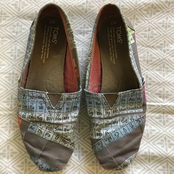 Toms Shoes Gray Periodic Table Poshmark